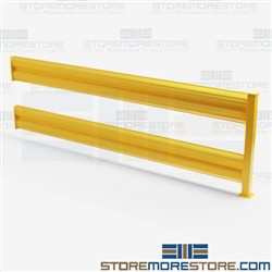 10' Yellow Guardrails Fork Truck Barriers OSHA Machine Guarding Safety Equipment