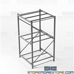 Steel Shelving for Large Boxes Storing Bulky Cartons Boxes Free Shipping Hallowell