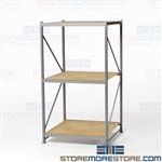 Storage Shelving for Large Boxes Racks for Big Cartons 4' Long Beams Free Shipping