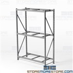 Hand Loaded Storage Racks for Big Boxes Cartons 5' Long Beams HBR6024123-3S-PB