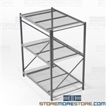 Warehouse Long Span Racks Heavy-Duty Wide Shelving 6'x4'x7' Adjustable Shelves