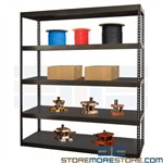High Capacity Boltless Shelving Solid Steel