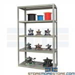 Heavy Metal Storage Shelving 72x24x84 Steel Decks