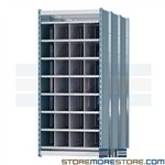 horizontal pigeon hole storage bins for storing long items such as pipes rebar plc. tubing and lumber Hallowell deep compartment storage shelving is ideal for organizing environments with long and inconvenient materials while allowing for easy retrieval