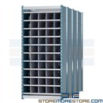 extra deep pigeon hole storage racks ideal for storing lengthy items and materials designed to store pipe plc. tubing steel bars and lumber Hallowell deep bin compartment shelving is ideal for organizing long stock in machine and workshop environments
