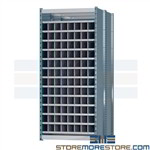 long pipe compartment racks with 6 foot deep pigeon hole cubbies ideal for storing lengthy stock materials steel construction ensures durability of storage racks deep compartment storage shelving is an ideal storage solution in machine shops