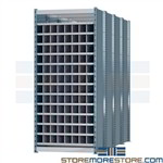 long pigeon hole shelving for the storage of lengthy materials horizontal storage racks ideal for storing pipe rebar tubing plc. and lumber deep pigeon hole design allows for easy access to compartments while allowing for easy organization of long items
