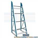 Rolled Cable Reel Stands Designed to hold spools for cable, rope, chain, wire, tubing, hose on adjustable levels