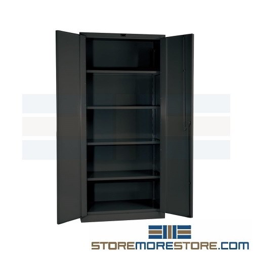 Supply Storage Cabinet With Locking Doors Hallowell Duratough 36 X