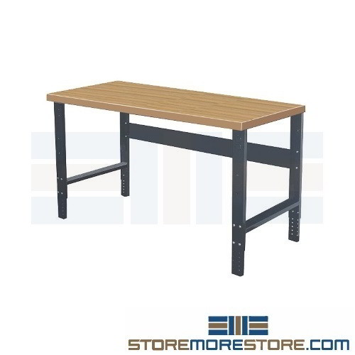 Marvelous Industrial Workbench With Shop Top 4 0 W X 2 6 D X 2 10 H Sms 39 Hwb4830E Me Frankydiablos Diy Chair Ideas Frankydiabloscom
