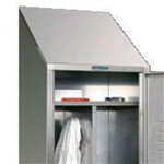 "Stainless Steel Locker Slope Top Closures (18""D x 6""H), #SMS-39-KISE18SS"