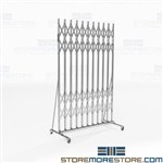 Folding Scissor Gates Hallways Expanding Contract, Hallowell Superior pressure fit gates, Hallway security barrier gates, collapsible,