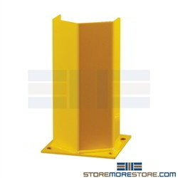 "Hallowell 24"" Column Guard Protectors Preventing Fork Truck Pallet Rack Damage"