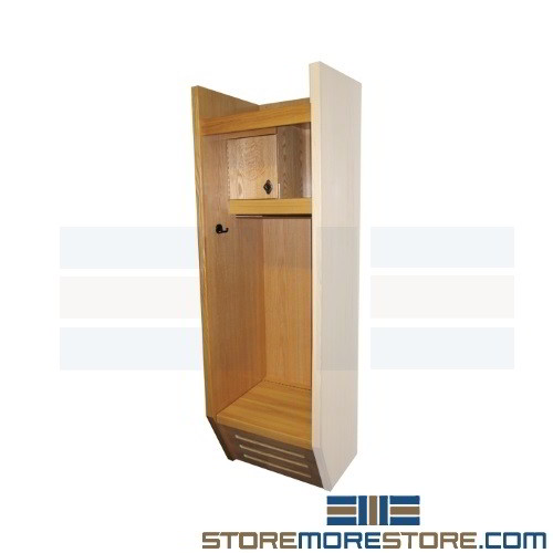 Wood Sports Lockers With Open Fronts