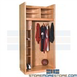 Wood Basketball Lockers Dressing Room Uniform