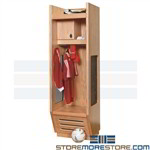 Wood Soccer Dressing Room Lockers Storing Uniforms