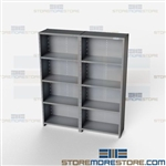 Closed Shelving 72x18x87 | 5 Shelves Extra Heavy-Duty Steel Shelving Hallowell List