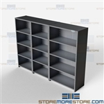 Closed Shelving 120x24x87 | 5 Shelves Extra Heavy-Duty Steel Shelving Hallowell List