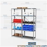 Open Shelving 72x18x87 | 5 Shelves Medium-Duty Steel Shelving Hallowell List