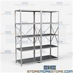 Open Shelving 72x24x87 | 5 Shelves Medium-Duty Steel Shelving Hallowell List