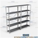Open Shelving 96x18x87 | 5 Shelves Medium-Duty Steel Shelving Hallowell List