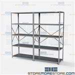 Open Shelving 96x24x87 | 5 Shelves Medium-Duty Steel Shelving Hallowell List