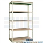 boltless commercial shelving compatable with Penco Rivetier z-line wire decking wood decking rivet