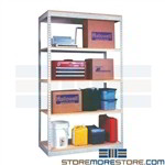 boltless shelving rivet construction compatable with sandusky Edsal Western Pacific shelving rack