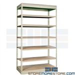 shelving similar to Edsal WPSS z-line Penco Tennesco Western Pacific boltless shelves wire