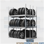 Double-Sided Tire Racks