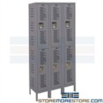 Ventilated Steel Lockers Two-Tier