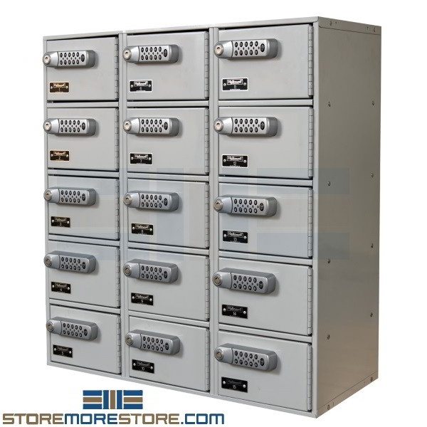 Mini Compartment Lockers Storing Phones Tablets With