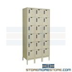 Temporary Keyless Lockers Keypad DigiTech Locks e digital locker, Keyless locker, DigiTech digital safe locker, 6-tier locker Hallowell UEL3258-6