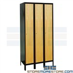 Lockers Wood Doors Steel Frames UW3588 Hallowell