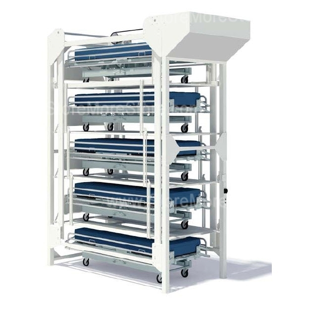 High Capacity Hospital Bed Storage Racks Biomedical