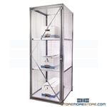 Bulk Storage Wire Cabinets Personal Locker Vented Pass Thru Equipment Storage