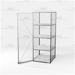 Single-Tier Wire Storage Lockers Vented Cabinet Tall Products Locking Storage