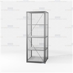 Employee Gear Cabinets Wire Mesh Storage Lockers Long Items Locking Ventilated