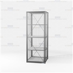 Single-Tier Wire Mesh Storage Lockers Gear Cubbies Pass Thru Equipment Cabinet