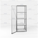 Visible Gear Cabinets Wire Mesh Storage Lockers Storing Long Equipment Items