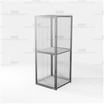 Double-Tier Visible Gear Lockers Storage Cabinet Ventilated Wire Mesh Lockers