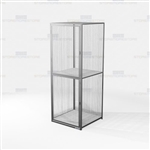 Employee Gear Storage Lockers Wire Mesh Cabinets Tools Personal Items Uniforms
