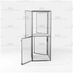 Industrial Wire Gear Lockers Storage Cabinets Mesh Double-Entry Pass-Thru Locker