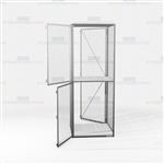 Wire Storage Cabinets Lockers Vented Compartments Two-Tier Mesh Storage Locker