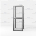 Double-Tier Bulk Wire Storage Lockers Gear Cabinet Vented Mesh Storage Locker