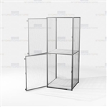 Wire Storage Lockers Vented Compartment Cubbies Two-High Mesh Cabinet Locker