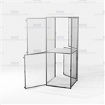 Double-Tier Wire Mesh Storage Lockers Gear Cabinet Pass Through Storage Lockers