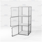 Three-Tier Wire Storage Cabinets Mesh Lockers Gear Cubbies Ventilated Mesh Tools