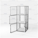 Employee Distribution Wire Cabinet Storage Locker Ventilated Cubbies Locking