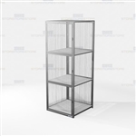 Industrial Wire Mesh Cabinets Gear Storage Locking Cubbies Lockers Vented Tools